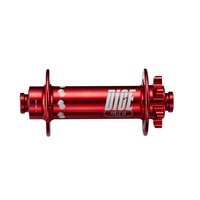 Dice Hub One-Five-Zero IS Disc Front Fat Bike 32 Hole 150mm Wide 15mm Thru RED