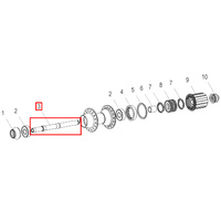 Axle 340 Rear 130mm (HCDXXX00S1050S)