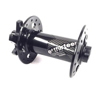 Ultralight Race Aluminum Front Hub | 28 hole | J-Bend | 110x15mm Boost | Black (HB4URA-100)