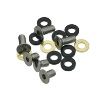 Guide Spare Bolt Kit ISCG 10mm/16mm Flat Head & Spacers for ALLOY Sgl Ring BKT.ISCG.FLT