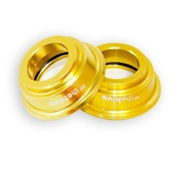 Hub Spare End Cap Set (L&R) XCX / Chub Front 15mm Gold (HBE.XPA.1500.A)