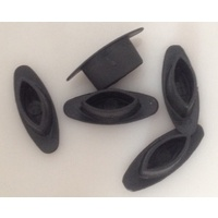 Wheel spoke cover (plug) black