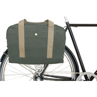 Linus Bag The Harrison Briefcase Canvas & Leather Army Green (BA309ARGA)
