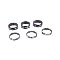 HEADSET SPACERS WCS CARBON Black UD Glossy 3x5mm + 3x10mm Bag (33056127004)