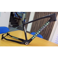 Salted Frame ONLY Sand FLEA Medium 17 inch Carbon Black w/- Green Argyle