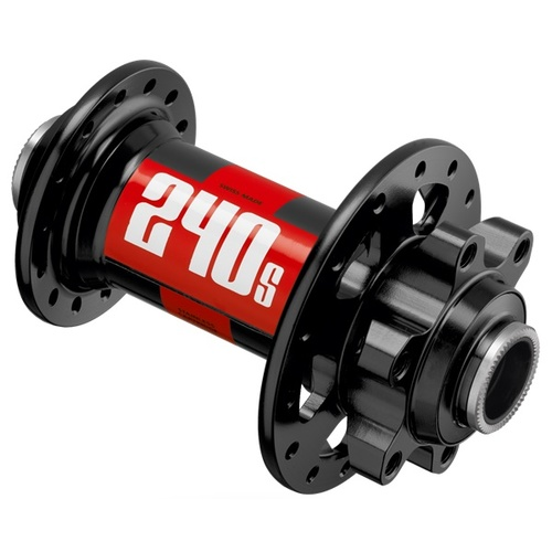 240 Hub IS 6 Bolt BOOST Front 110/15mm 28H Black w/Red Decal (H240BDIXR28SA7658S)