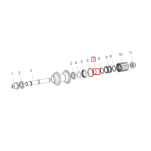 Spacer 190/240/240s/340/FR/440/Tricon Rear Alu (HCDXXX00S1077S)