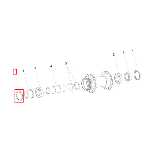Dust Cover 340 / 350 / 370 Front 15mm (HCD00100S4603S) - DT